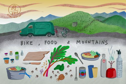 Bike, Food & Mountains